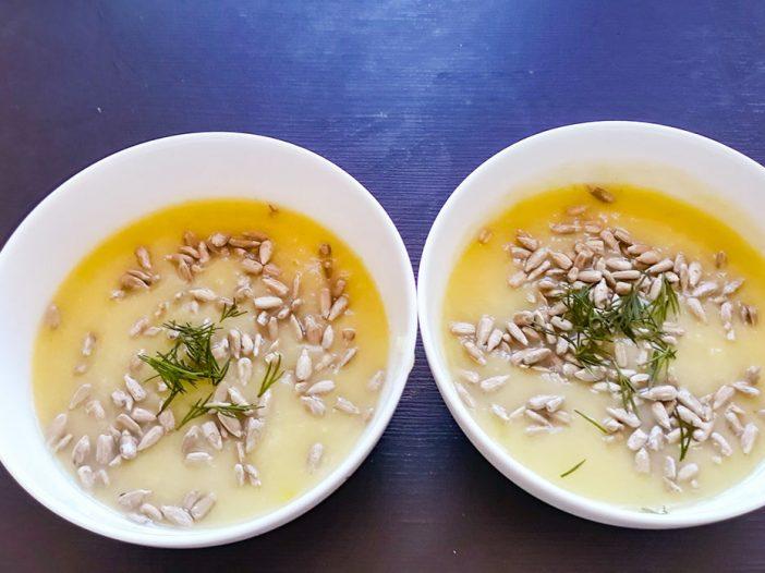 kremowa zupa z porem