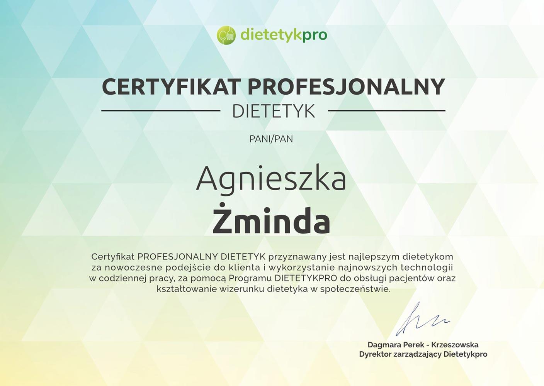 Certyfikat Dietetyk A Zminda 1