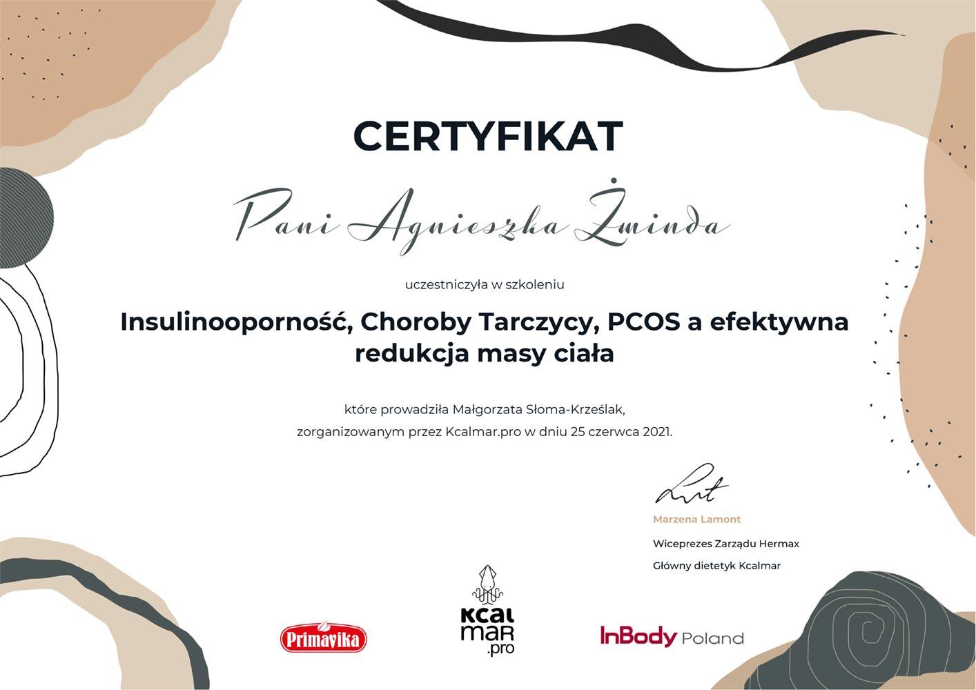 certyfikat tarczyca pcos