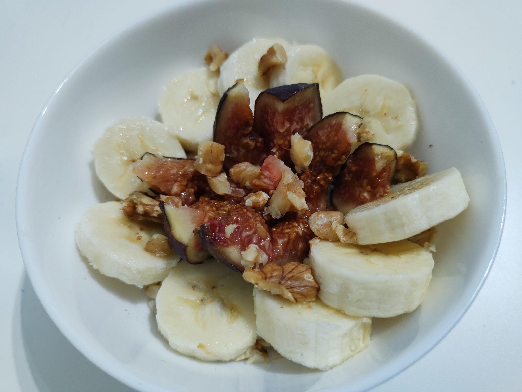 Owsianka bananowo-figowa